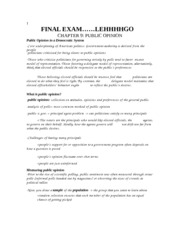 final exam Political science