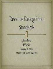 Revenue Recognition Standards