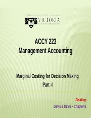 ACCY 223 Week 6 Decision Making -I - -Complete Lecture Slides(1)