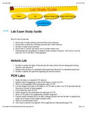Lab Study Guide 263