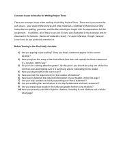 Writing Project Three Common Issues to Address (2).docx