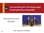 Accounting for pension and post retirement