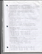Matrix Addition, Scalar Multiplication and Multiplication Notes Page 1