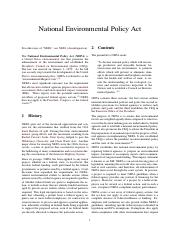 1969 National Environmental Policy Act (US)