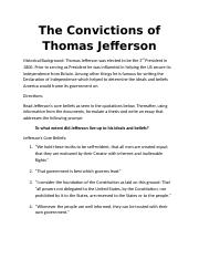 The Convictions of Thomas Jefferson (3).docx