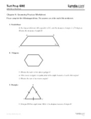 Chapter 9 - Geometry Practice Worksheet