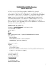 REVIEW SHEET for General Theory-POLI 105 INTRO TO IR FALL 2012 NAU version