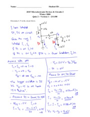 Quiz 2 (Version A) with Solutions