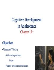 Ch 11 Cognitive Development in Adolescence.ppt