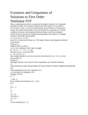 Existence of solutions to first order