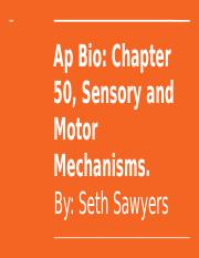 Copy of Ap Bio- Chapter 50, Sensory and Motor Mechanisms. (3).pptx