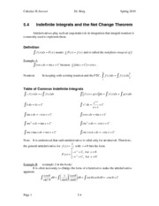 Calculus II Notes 5.4