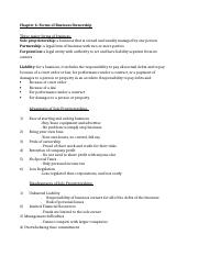 Commerce note taking chpater 6