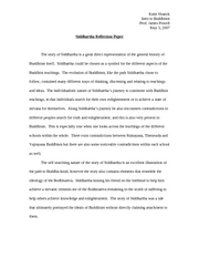 Buddhist self reflection essay