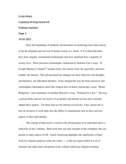 Technology essay 3