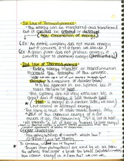 BSC 115 1st Law Thermo Notes