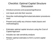 Checklist Optimal Capital Structure Discussion-1