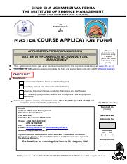 MSc. IT Application form - 2015.doc