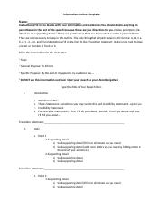 SPCH 1311 Common Informative Outline Template F14