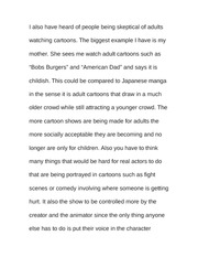 Essay on Adult Cartoons