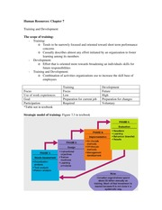 Human Resources ch 7 notes