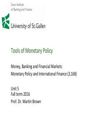 05 Tools of Monetary Policy