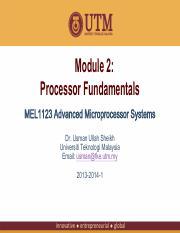 02 Processor Fundamentals Pdf Module 2 Processor Fundamentals Mel1123 Advanced Microprocessor Systems Dr Usman Ullah Sheikh Universiti Teknologi Course Hero
