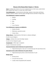 Diseases of the Human Body Chapters 1-7 Study Guide