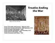 Post War Treaties
