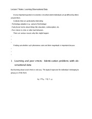 Lecture 7 Notes Learning Observational Data
