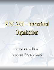 POSC 2200 - International Organisation.ppt