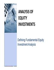 CNC1_Defining Fundamental Equity Investment Analysis
