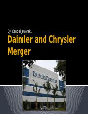 Daimler and Chrysler Merger