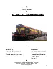 139989985-Railway-Reservation doc - OOAD UML Project On