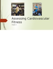 3. Chap 4. Assessing Cardiovascular Fitness (1)
