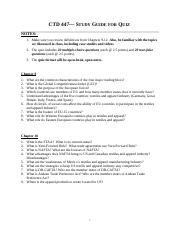 Study Guide for Quiz(1)
