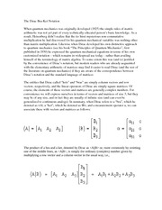 The Dirac Bra-Ket Notation Notes
