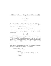 Solutions to the selected problems (Homework 12)
