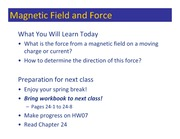 Class 093 - Magnetic Field and Force