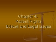Ch 4 Ethical & Legal Issues
