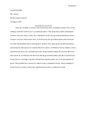 Economic Systems Country Analysis Paragraph-Joseph Fernandez.docx