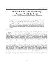 How much is your advertsing agency worth to you
