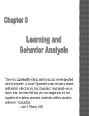 Chapter 6 Learning and Behavior Analysis Lecture 1(2).pptx
