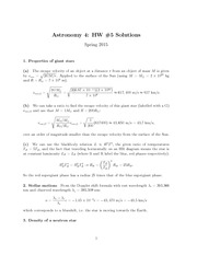 HW#5, Solutions