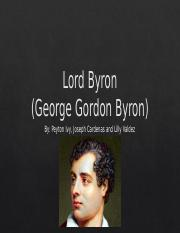 Lord Byron powerpoint (1)