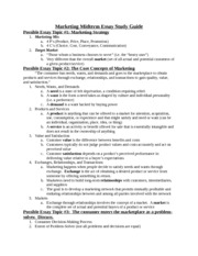 Marketing Midterm Essay Study Guide