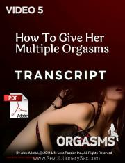 5 Multiplytranscript Pdf Multiple Orgasms5 Licensed To