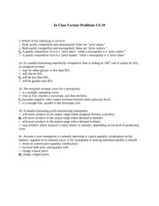 In Class Lecture Problems Ch 10_answer key