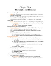 Chapter 8: Shifting Social Identities