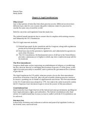 Legal Considerations Study Guide